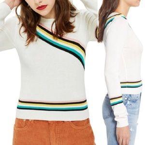 Topshop   varsity diagonal stripe sweater 0733
